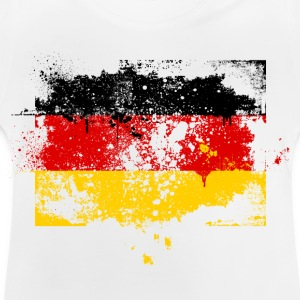 Germany flag banner urban grunge graffiti style German pride Kids' Shirts - Baby T-Shirt