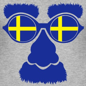 Sverige Sweden Gensere - Slim Fit T-skjorte for menn
