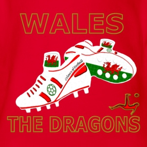 Wales t-shirt soccer number 12 Kids Shirts - Organic Short-sleeved Baby Bodysuit