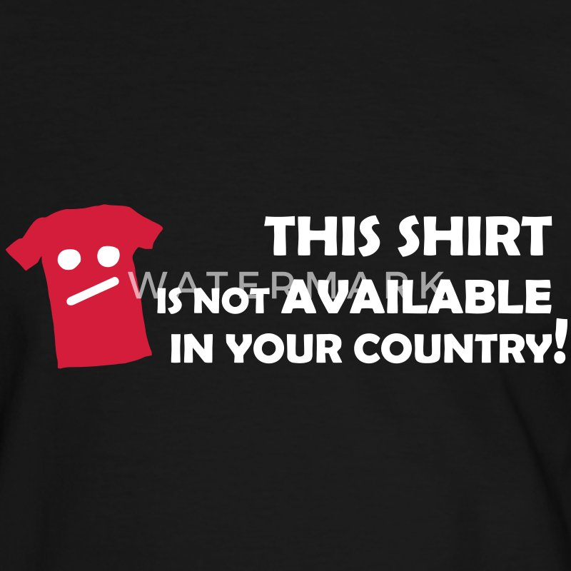 Not available in your Country T-Shirts - Männer Kontrast-T-Shirt