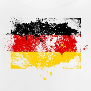 Germany flag banner grunge graffiti style German pride football Kids' Shirts - Baby T-Shirt