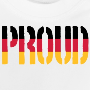 Proud Germany Flag, Proud to be German - Baby T-Shirt