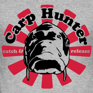 Carp Hunter catch and release - Männer Slim Fit T-Shirt