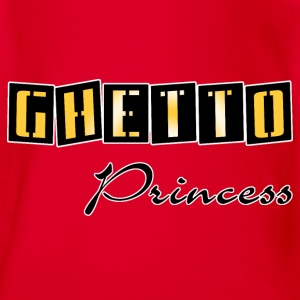 ghetto princess gold Kids' Shirts - Organic Short-sleeved Baby Bodysuit