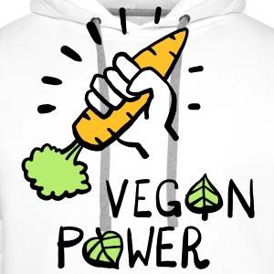 Vegan Power T-Shirts - Men's Premium Hoodie
