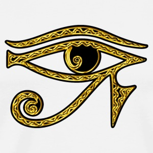 Horus eye, Egypt, protection, magic & strength, T-shirts - Men's Premium T-Shirt