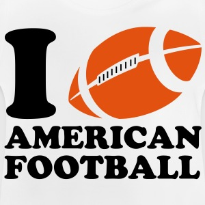 I Love American Football Kinder T-Shirts - Baby T-Shirt