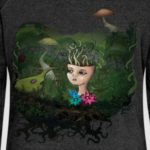 Mushroom T-Shirts - Women's Boat Neck Long Sleeve Top