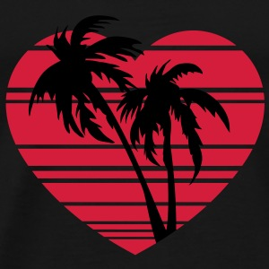 palm heart Sweatshirts - Herre premium T-shirt