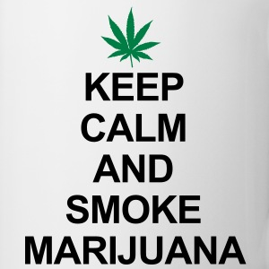 Keep Calm And Smoke Marijuana Tröjor - Mugg