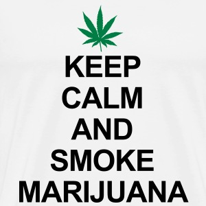 Keep Calm And Smoke Marijuana Tröjor - Premium-T-shirt herr