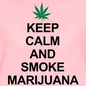 Keep Calm And Smoke Marijuana Gensere - Premium T-skjorte for kvinner