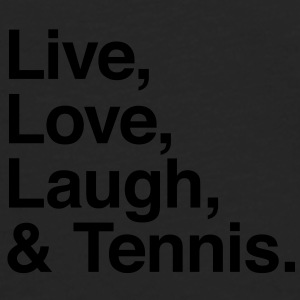 live love laugh and tennis Kepsar & mössor - Långärmad premium-T-shirt herr