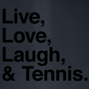 live love laugh and tennis Shirts - Flexfit baseballcap