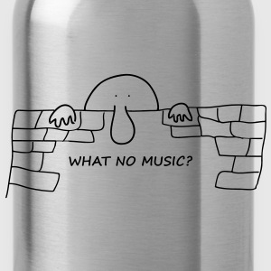 What no Music - Water Bottle