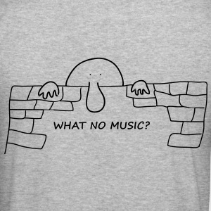 What no music? - Men's Slim Fit T-Shirt