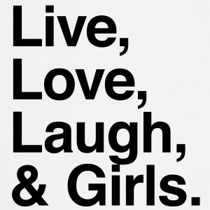 live love laugh and girls T-shirts - Keukenschort