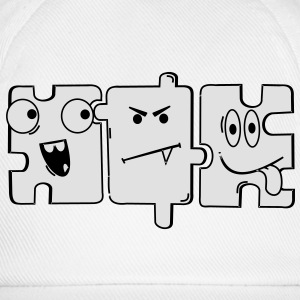 Monster Puzzle T-Shirts - Baseballkappe