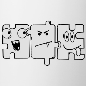 Monster Puzzle T-Shirts - Tasse