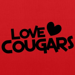love cougars with heart funny cougar hunter Hoodies & Sweatshirts - Tote Bag