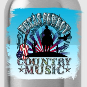 texas cowboy country music T-Shirts - Water Bottle