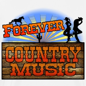 forever country music Long sleeve shirts - Men's Premium T-Shirt