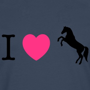 I love Ponies wild horse - this design lets you change all colours Gensere - Premium langermet T-skjorte for menn