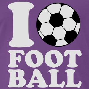 I Love Football V2 Sweaters - Mannen Premium T-shirt