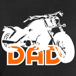 Biker DAD White/Orange Motorcycle T-Shirt WB - Felpa da uomo di Stanley & Stella