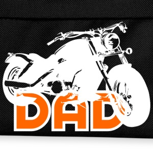 Biker DAD White/Orange Motorcycle T-Shirt WB - Rugzak voor kinderen