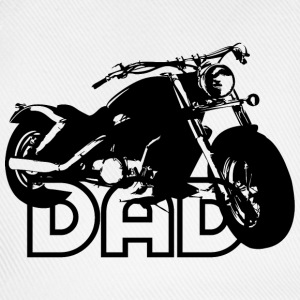Biker DAD Black Motorcycle T-Shirt BW - Baseballcap