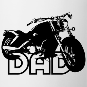 Biker DAD Black Motorcycle T-Shirt BW - Kopp