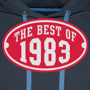 THE BEST OF 1983 2C Birthday Anniversaire Geburtstag T-Shirt - Felpa con cappuccio premium da uomo