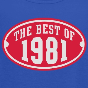 THE BEST OF 1981 2C Birthday Anniversaire Geburtstag T-Shirt - Camiseta de tirantes mujer, de Bella