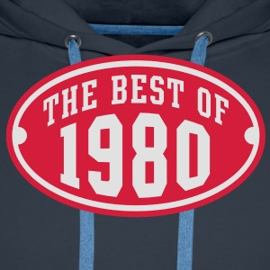 THE BEST OF 1980 2C Birthday Anniversaire Geburtstag T-Shirt - Sweat-shirt à capuche Premium pour hommes