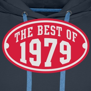 THE BEST OF 1979 2C Birthday Anniversaire Geburtstag T-Shirt - Bluza męska Premium z kapturem