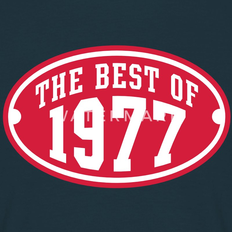 THE BEST OF 1977 2C Birthday Anniversaire Geburtstag T-Shirt - Maglietta da uomo