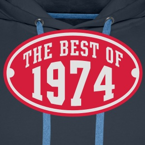THE BEST OF 1974 2C Birthday Anniversaire Geburtstag T-Shirt - Herre Premium hættetrøje