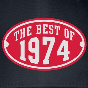 THE BEST OF 1974 2C Birthday Anniversaire Geburtstag T-Shirt - Flexfit baseballcap