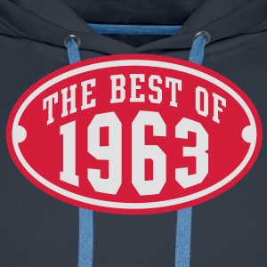 THE BEST OF 1963 2C Birthday Anniversaire Geburtstag T-Shirt RN - Herre Premium hættetrøje