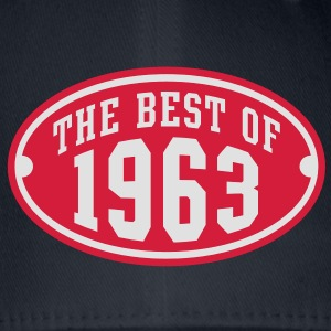 THE BEST OF 1963 2C Birthday Anniversaire Geburtstag T-Shirt RN - Czapka z daszkiem flexfit