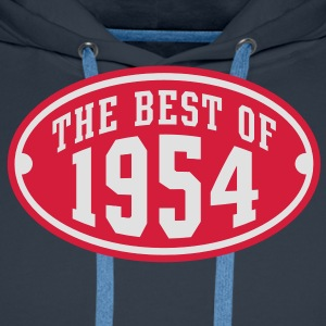 THE BEST OF 1954 2C Birthday Anniversaire Geburtstag T-Shirt - Premium hettegenser for menn