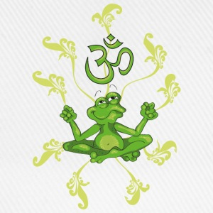 The frog sings the OM at his Yoga-Lesson Barn-T-shirts - Basebollkeps