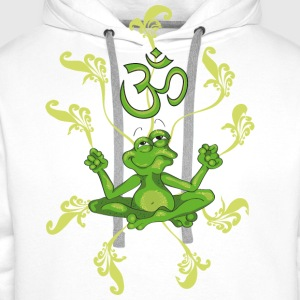 The frog sings the OM at his Yoga-Lesson Barn-T-shirts - Premiumluvtröja herr