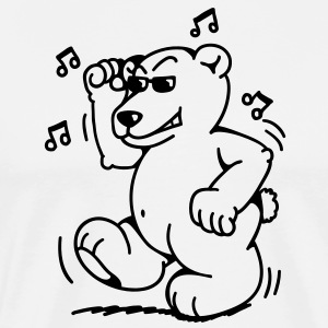 Fat little dancing bear Förkläden - Premium-T-shirt herr