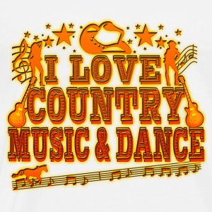 i love country music & dance Sweat-shirts - T-shirt Premium Homme