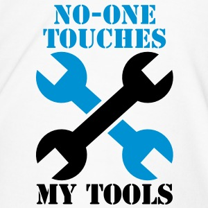 NO-ONE Touches my tools Bottles & Mugs - Men's Premium T-Shirt
