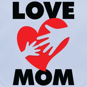 Love Mom 1 (dd)++ Barn-T-shirts - Ekologisk babyhaklapp