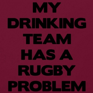 My Drinking Team Has a Rugby Problem Torby - Bluza z kapturem z kontrastowymi elementami