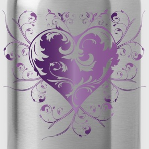 heart purple T-Shirts - Trinkflasche